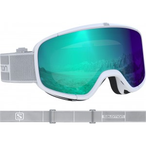Ochelari Ski si Snowboard Salomon Four Seven Photo Wh/All Weather Blue Alb