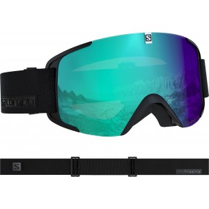 Ochelari Ski si Snowboard Salomon Xview Photo Bk/All Weather Blu Negru