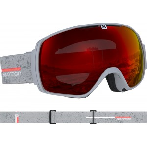 Ochelari Ski si Snowboard Salomon XT One Grey Matt/Univ. Mid Red Gri