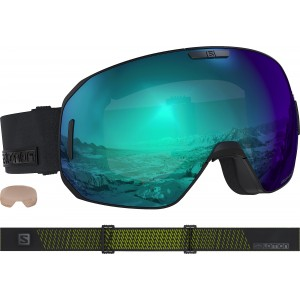 Ochelari Ski si Snowboard Salomon S/Max Photo Blk Neon/All Weather Blue Negru