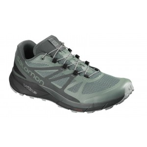 Incaltaminte Alergare Trail Barbati Salomon Sense Ride GTX Gri
