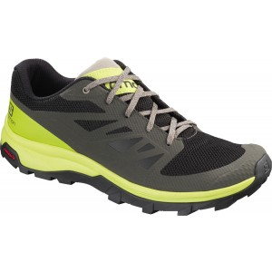 Incaltaminte Barbati Hiking Salomon Outline Negru / Maro / Lime