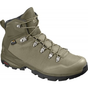 Ghete Barbati Hiking Salomon Outback 500 GTX Maro