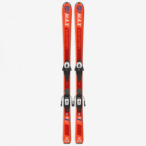 SALOMON SKI SET L S/MAX Jr M + L6 GW J2 80  Copii Portocaliu