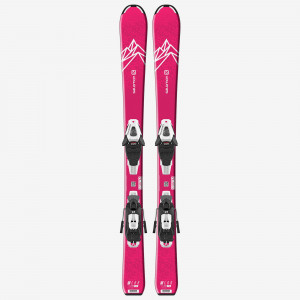SALOMON SKI SET L QST LUX Jr S+ C5 GW J75  Copii Roz