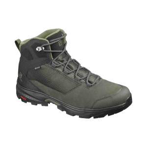 Salomon Ghete Drumetie Barbati  Outward Gtx Peat/Black/Burnt Olive (Verde)