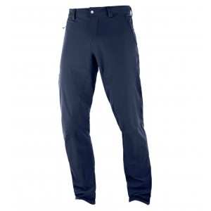 Pantaloni Barbati Hiking Salomon Wayfarer Alpine Bleumarin