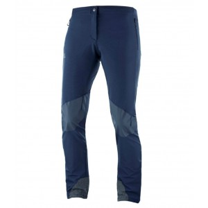 Pantaloni Femei Hiking Salomon Wayfarer Mountain Bleumarin