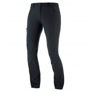 Pantaloni Femei Hiking Salomon Wayfarer Tapered Negru