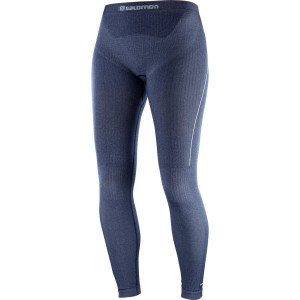 Salomon Colanti Drumetie PRIMO WARM TIGHT SEAMLESS Femei Bleumarin