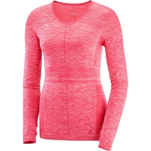 Salomon Bluza Alergare ELEVATE MOVE'ON LS TEE Femei Roz