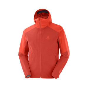 Salomon Jacheta Drumetie Barbati Outline Jkt M Valiant Poppy/Cherry To (Portocaliu)