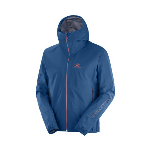 Salomon Jacheta Drumetie Barbati Outline 360 3L Jkt M Poseidon/Cherry To (Bleumarin)