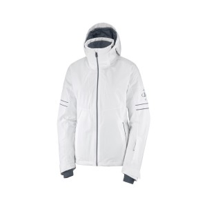 Salomon Geaca Ski Femei THE BRILLIANT JACKET W Alb
