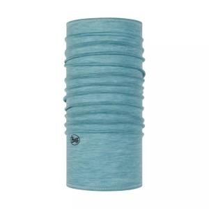 Bandana Tubulara Drumetie Unisex Buff Lightweight Merino Wool SolidPool Turcoaz