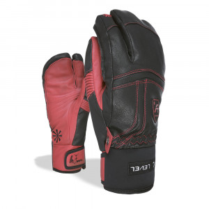 Manusi Ski Level Off Piste Leather Trigger red