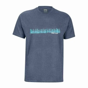 Tricou Drumetie Barbati Marmot Forest Tee SS Navy Heather (Bleumarin)