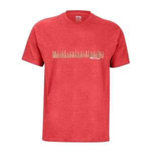 Tricou Drumetie Barbati Marmot Forest Tee SS Red Heather (Rosu)