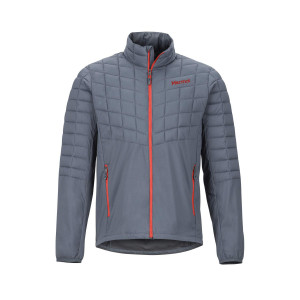 Geaca Drumetie Barbati Marmot Featherless Hybrid Jacket Steel Onyx/Victory Red (Multicolor)
