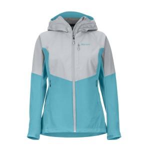 Geaca Softshell Drumetie Femei Marmot ROM Jacket Enamel Blue/Sleet (Multicolor)