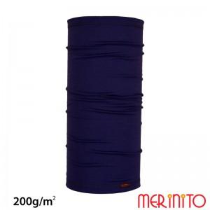 Neck Tube Merinito 200g/mp Albastru