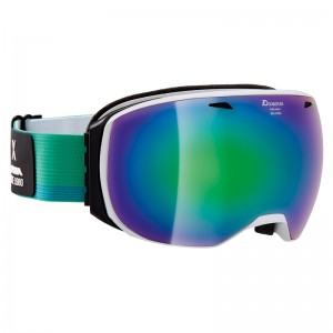 Ochelari Schi si Snowboard Alpina Big Horn MM White/Cold Green