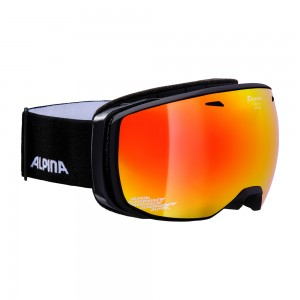 Ochelari Ski si Snowboard Alpina Estetica Black Matt MM Red