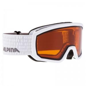 Ochelari Schi si Snowboard Alpina Scarabeo JR DH White/White Dots