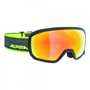 Ochelari Ski si Snowboard Alpina Scarabeo Jr Black MM Red