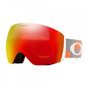 Ochelari Ski si Snowboard Oakley Flight Deck Artic Fracture Sharkskin Orange Prizm Snow Torch Iridium