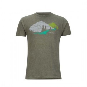 Tricou Barbati Marmot Tread Lightly Verde