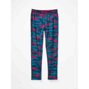 Pantaloni First Layer Copii Marmot Midweight Harrier Tight Arctic Navy Haze Camo (Multicolor)