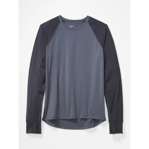 Bluza First Layer Barbati Marmot Baselayer LS Crew Steel Onyx/Dark Steel (Gri)