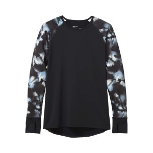 Bluza First Layer Femei Marmot Baselayer LS Crew Black/Solstice (Multicolor)