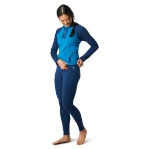 Pantaloni First Layer Femei Smartwool Merino 250 Base Layer Bottom Boxed Alpine Blue Heather (Albastru)