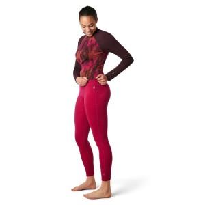 Pantaloni First Layer Femei Smartwool Merino 250 Base Layer Bottom Boxed Very Berry Heather (Roz)