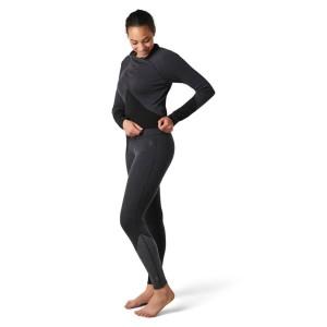 Pantaloni First Layer Femei Smartwool Merino 250 Base Layer Colorblock Bottom Boxed Black (Negru)