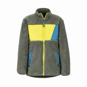 Polar Copii Marmot Boy's Roland Fleece Crocodile/Citronelle (Kaki)