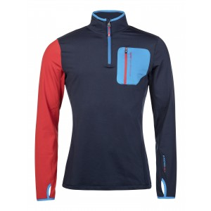 Bluza First Layer Barbati Protest Geezer 1/4 Zip Top Albastru