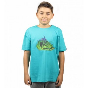 Tricou Copii Quiksilver In Fire Boys SS Turcoaz
