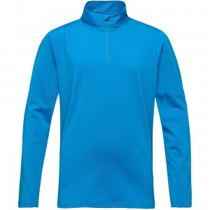 Bluza Mid-Layer Baieti Rossignol 1/2 ZIP WARM STRETCH Bleu / Bleumarin