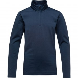 Bluza Mid-Layer Baieti Rossignol 1/2 ZIP WARM STRETCH Bleumarin