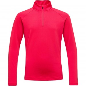 Bluza Mid-Layer Fete Rossignol 1/2 ZIP WARM STRETCH Rosu
