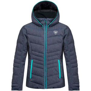 Geaca Ski Copii Rossignol Girl Polydown Denim Jkt Denim (Bleu)