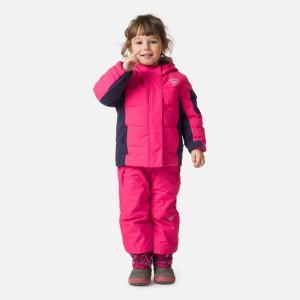 Geaca Ski Copii Rossignol Kid Flocon Jkt Pink Fushia (Roz)