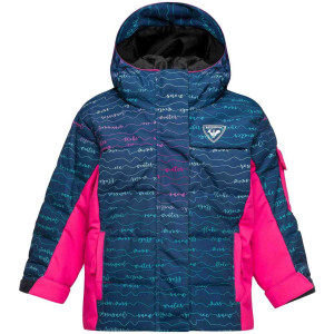 Geaca Ski Copii Rossignol Kid Flocon Pr Jkt Girly Font (Roz)