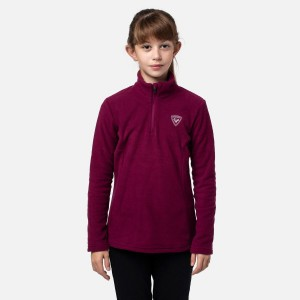 Polar Drumetie Copii Rossignol Girl 1/2 Zip Fleece Powder Pink (Violet)