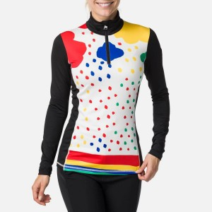 Bluza First Layer Ski Femei Rossignol W Bessi Top Rainbow (Multicolor)