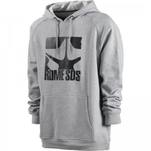 Hanorac Rome Logo Pullover Heather Gri