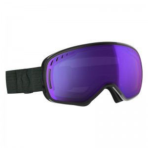 Ochelari Schi si Snowboard Scott LCG Black / Light Sensitive Blue Chrome + Illuminator Red Chrome